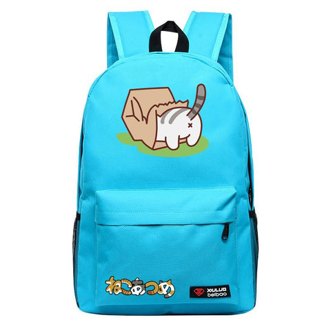 2016 Game Neko Atsume Backpack for Teenagers Cat Backyard school bags Candy Color Unisex mochila