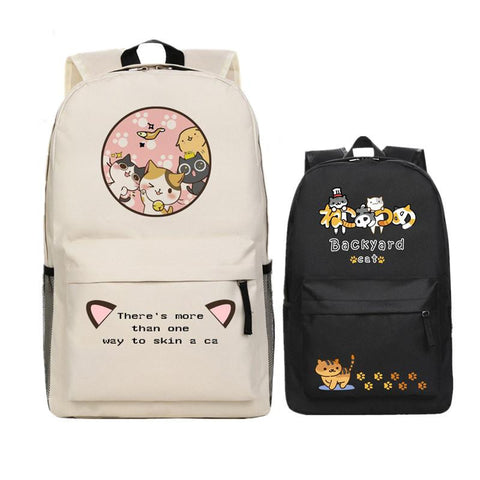 2017 Game Neko Atsume Kawaii Emoji Cosplay Printing Backpack Women School Backpacks for Teenage Girls Canvas Laptop Bags
