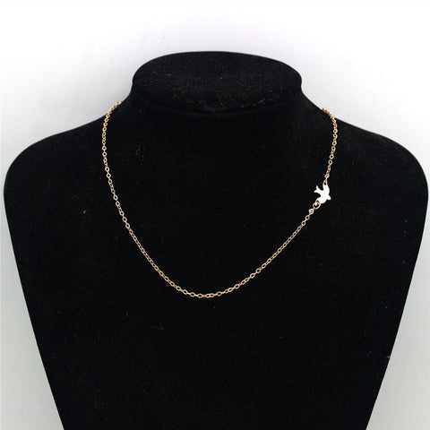 Ahmed Jewelry Simple Alloy Birds Necklace Clavicle Chains Charm Womens Fashion Jewelry Colar Maxi Necklace For Women Hot