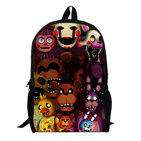 5 Five Nights Freddys Kids Book Bag Backpack School Teens Adult College Hipster Hot Topic Gothic