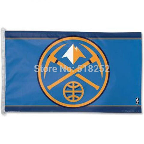Denver Nuggets Flag 3x5 FT 150X90CM Banner 100D Polyester NBA flag 112, free shipping