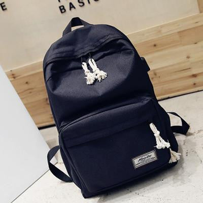 9cd9f40a606e New Canvas Casual Daypacks with USB Charger Female Bags Travel Daypack –  2018 AT 142 30 (Animetee.com Friends)