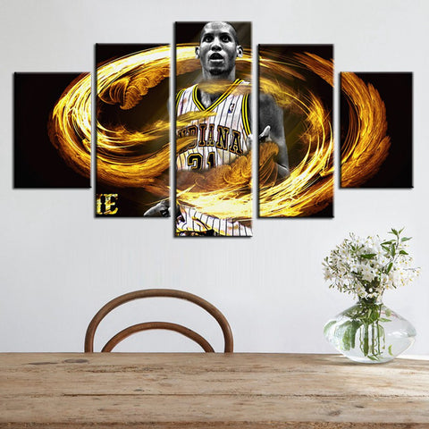 Hot Sale Indiana Pacers Wall Art Canvas Paintings Reggie Miller Gifts Housewarming  Basketball Living Room Decor