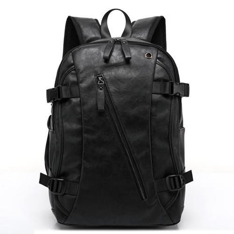 3  colors PU large space men's leather backpacks male students casual for school shoulder bags casual bags  back to school