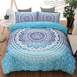 Cool Blue Black Purple Color Bedding Kit for Adult Bedroom Full Queen King Size Bed Set Bohemian Bed Covers Boho Duvet Cover BeddingAT_93_12