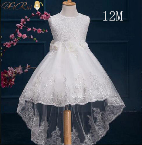 a53745e87cba Flower Girl White Baptism Christmas Gown Baby Girls Princess Dresses ...