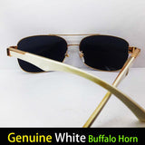 white buffalo horn glasses gold wood glasses frames wooden sunglasses men aviators buffalo glasses sun glasses avitor shades