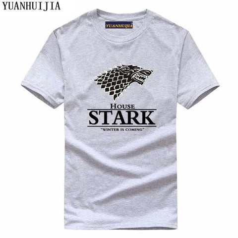 Winter Game of Thrones GOT 2017 Men  T Shirt House Stark Winter Is Coming printed summer style tees Male harajuku top fitness brand clothing AT_77_7