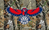 Free shipping 3x5ft Atlanta Hawks flag Super Fan 100D polyester digital printing with 2 metal gromments