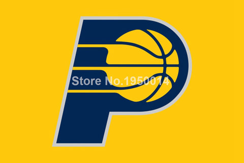 Indiana Pacers Flag 3x5 FT 150X90CM Banner 100D Polyester NBA flag