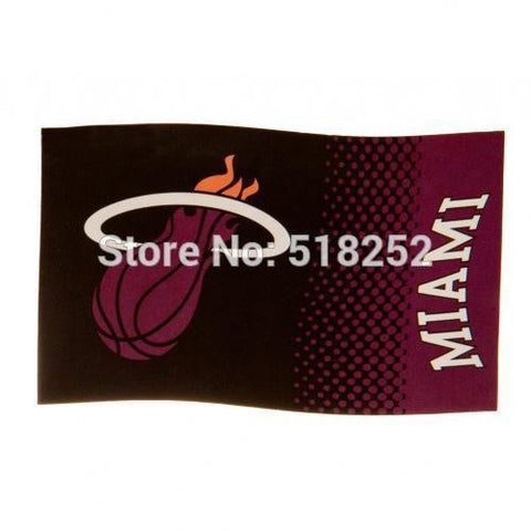 Miami Heat fade Flag 3x5 FT 150X90CM Banner 100D Polyester Custom flag grommets,free shipping