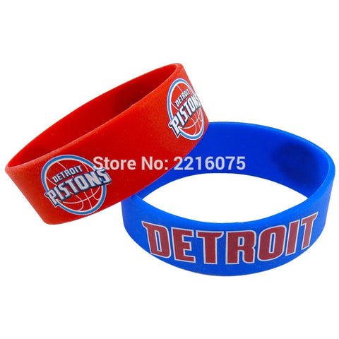 300pcs One inch Detroit Piston wristband silicone bracelets free shipping by DHL express