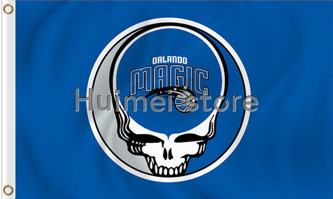 Orlando Magic flag 3ftx5ft Banner 100D Polyester Flag metal Grommets