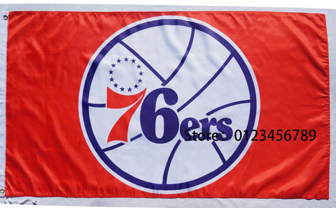 NBA Philadelphia 76ers flag  3X5 NBA Philadelphia 76ers Banner Flags 90cmX150cm