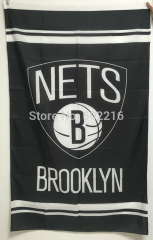 Basketball Brooklyn Nets Large Outdoor Team Flag 3ft x 5ft Football Hockey USA Flag