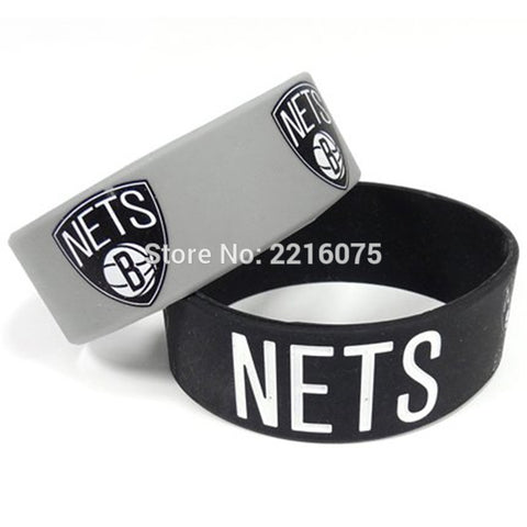 300pcs One inch Brooklyn Net wristband silicone bracelets free shipping by DHL express