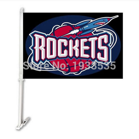 Houston Rockets car window flags 2PCS-20cm*30cm