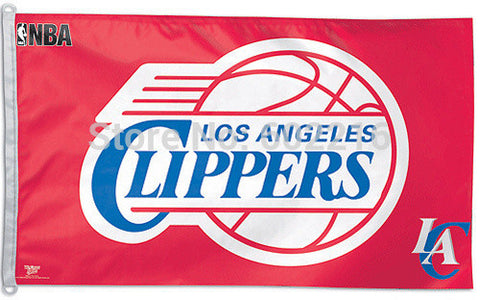 LA Clippers Tailgating Team and Logo Flag 3FTX 5FT Custom LA Clippers Fan Flag