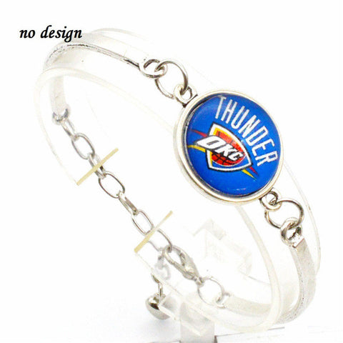 2017 Trendy Jewelry Sport Bracelet Oklahoma City Thunder Charms Bracelet&Bangle Women Men Fashion Accessories