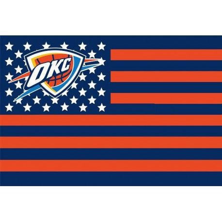 Oklahoma City Thunder USA star stripe NBA Premium Team basketball Flag 3X5FT
