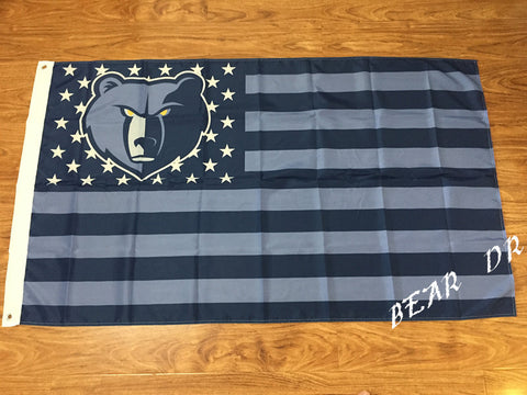 Memphis Grizzlies Flag 3ft x 5ft Polyester NBA Memphis Grizzlies Banner Flying Size 90*150cm