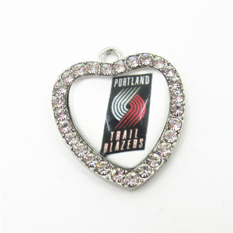10pcs Portland Trail Blazers Basketball Team Sports Dangle Charms DIY Bracelet Necklace Hanging Floating Charm Jewelry