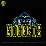 Neon Sign for Denver Nuggets NBA Sport Display Handcrafted Neon Sign Lights Store Display Neon Bulbs Sign Signboards BRAND lamps