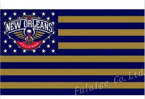 New Orleans Pelicans Flag 3x5 FT 150X90CM Banner 100D Polyester NBA flag , free shipping