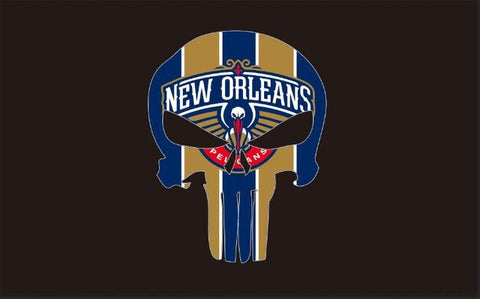 New Orleans Pelicans sports flag Digital Printing 100D Polyester metal Grommets 90*150CM basketball Club skeleton flag