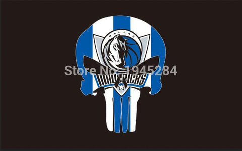 Dallas Mavericks Skull Flag Banner Black New 3x5FT 90x150CM Polyester 8954, free shipping