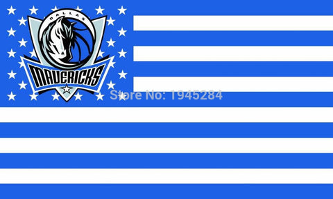 Dallas Mavericks with US Stars Stripes Flag Banner New 3x5ft 90x150cm Polyester 8953, free shipping