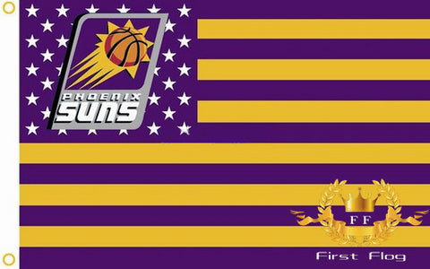 Phoenix Suns US Star and Stripe Flag 3X5FT 90x150cm 100% Polyester free shipping NBA banner