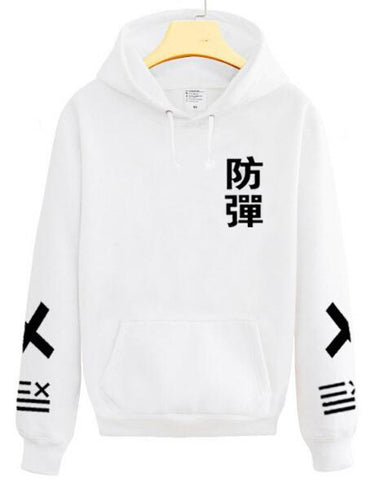 2015 new arrival kpop bangtan boys chinese name print black white hoodie fashion pullover xxlll sweatshirt S-2XL sudaderas