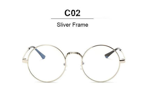 9f623b6f4a Vintage Round Glasses Men Sunglasses Women Metal Frame Clear Lens Tran –  2018 AT 142 30 (Animetee.com Friends)