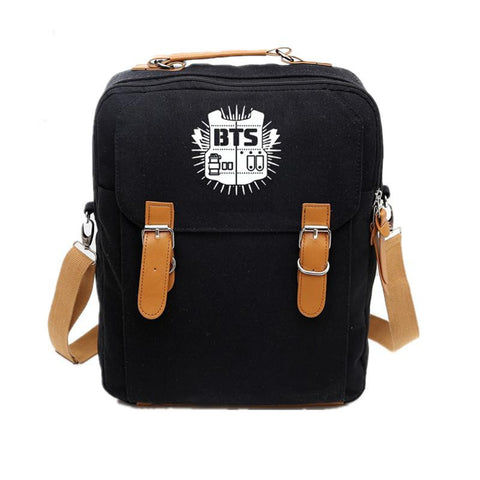 2017 Canvas Laptop Backpack BTS Bangtan Boys Mochila Feminina Women Printing Backpacks Student School Bags for Teenagers Girls