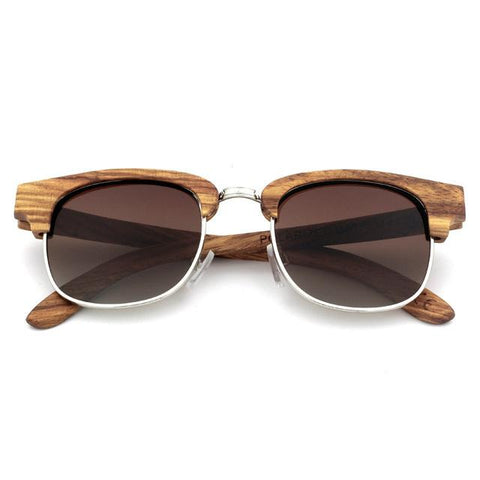 2017 Fashion Polarized Sunglasses Popular New Design Original Wooden Sunglasses Women Upscale Retro Bamboo Wooden Sun Glasses