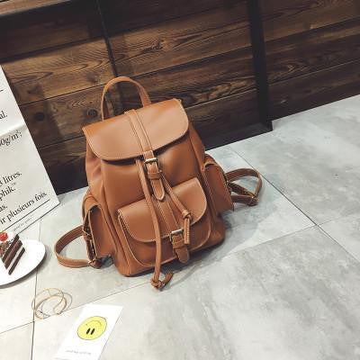 b5cb335e312f ... 2017 Europe Style Women Fashion Backpacks Retro Leather Backpack New  Preppy Style All-match Backbags ...