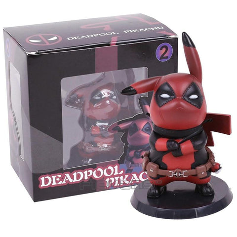 Deadpool Dead pool Taco  Captain America Pikachu Mini PVC Figure Collectible Model Toy Small Size 10cm AT_70_6