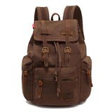 2016 Popular Backpack Men Vintage Canvas Mochila with Flap Pocket  High Quality Women Rucksack School Satchel Travel Pack Bag