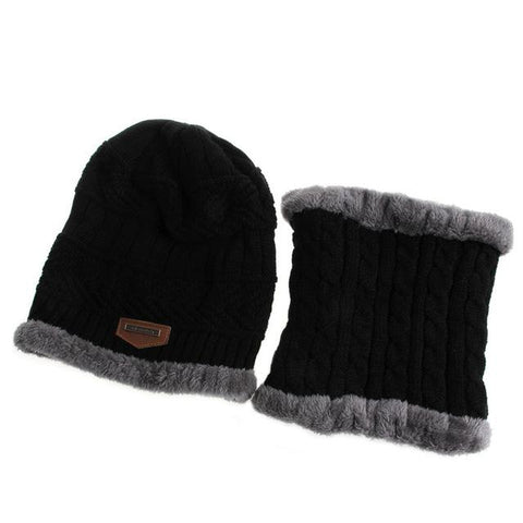 Men Women Camping Hat Beanie Baggy Warm Winter Wool Fleece Ski Cap +  Neckerchief 01d33a0ad3a