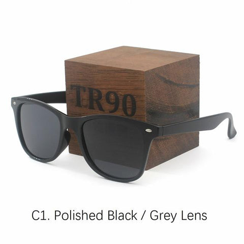 Super light-weight eyewear TR90 Polarized Sunglasses Men Women Classic Sun glasses Reflected Coating Lenses Oculos de sol gafas