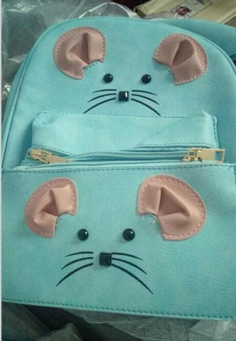 2017 NEW fashion harajuku unisex PU cute cartoon mouse mini Backpack men's schoolbag women's travel shoulder bag