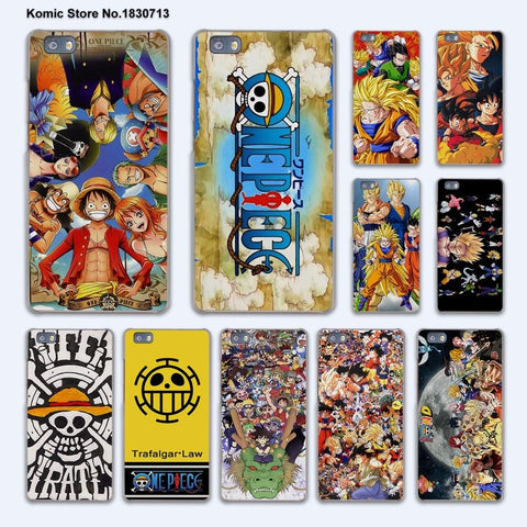 Dragon ball Dragonball capsule Japanese anime collage  naruto one piece design hard transparent Cover Case for huawei P10 P9 P8 Lite P10 Plus Mate 9 AT_85_9