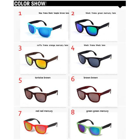 New Hot Folding Sunglasses Vintage Polarized Sun Glass For Women Men Summer Style Eyewear Gafas Oculos De Sol Y4