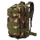 2016 30L Waterproof Nylon Attract Military Camo 3P Backpack Rucksack Trekking Shoulder Bag Pack;Paquete de tactica militar