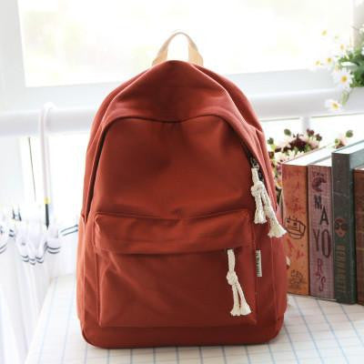 85226dae8850 Simple fresh design pure color canvas women backpack fashion girls lei –  2018 AT 142 30 (Animetee.com Friends)