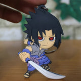 1 Pcs Action Figure Keychain Classic Japanese Anime Naruto Sasuke Dragon Ball Super Saiyan  Figurines PVC Collection Toy ASB42
