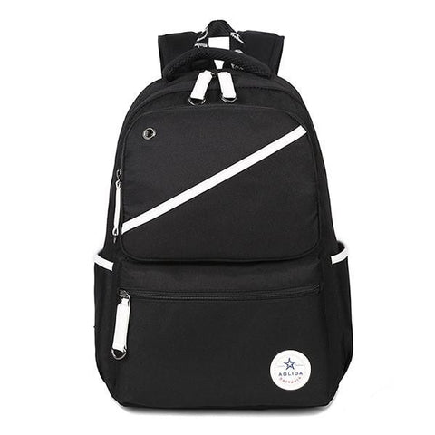AOLIDA Travel Canvas Backpack Men Women College 2017 School Student Bags Male Casual Solid Laptop Men's Backpacks Bolsa Mochila