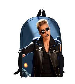 FORUDESIGNS 2017 new fashion character Justin Bieber children backpacks for boys and girls,cool kids  Bags,Men's backpack