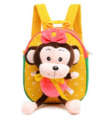 Baby Boys Girls School Bags 3D Cartoon Monkey Plush Backpack for Kindergarten Kids Infant Baby School Backpack School Mochila
